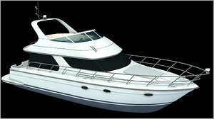 3ds max carver 460 voyager yachts