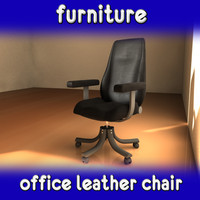 black leather office 3d max