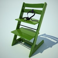 3d children chair child model