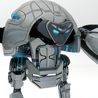 3d model robot robo turtle