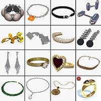 3ds jewelry cufflinks earrings