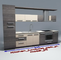 Kitchen furnitures with accesories model 03