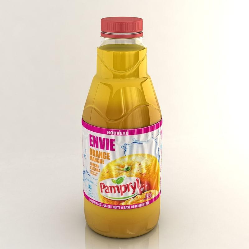 3d model juice orange