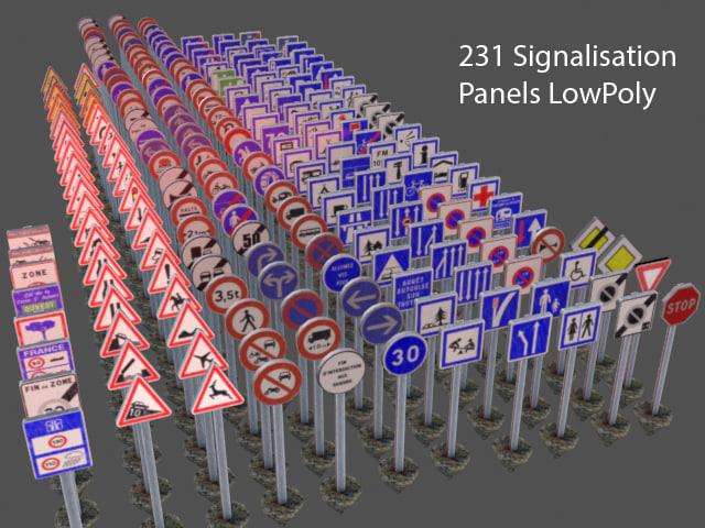 3d model signs panel