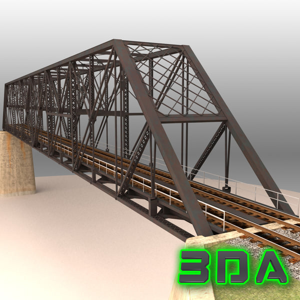 3d model rail bridge