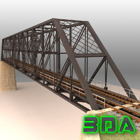 3d model rail bridge