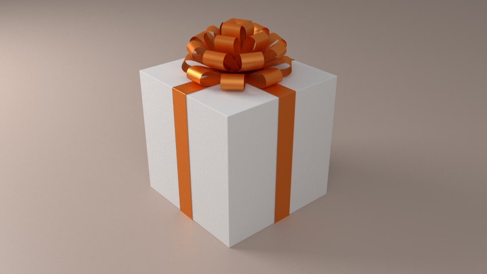 3d obj simple present box