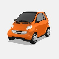 3d smart car model