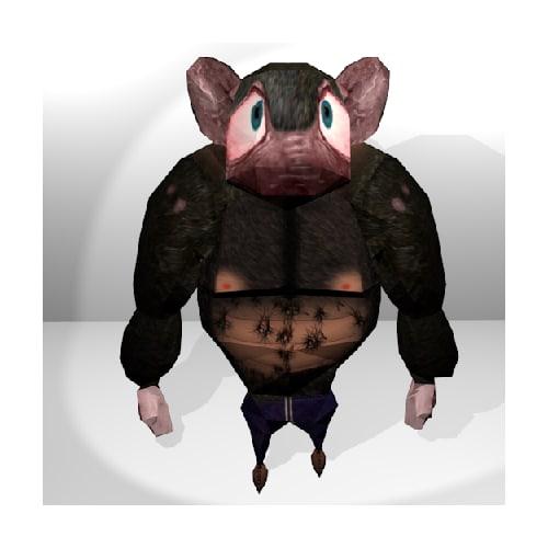 res rat character 3d model