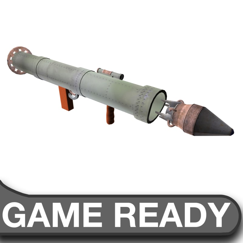 3d model steam rocket launcher ammo