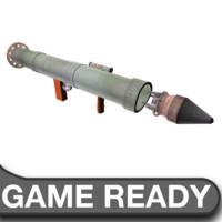 3d model steam rocket launcher ammo