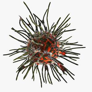 retrovirus 3d model