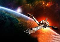 3d spaceship design model