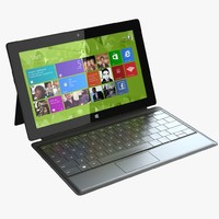 3d model microsoft surface cover
