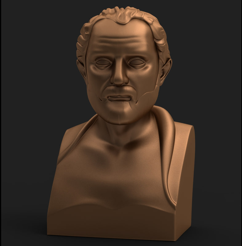 sculpture modelled 3d obj