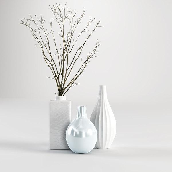 3d model of vase branch