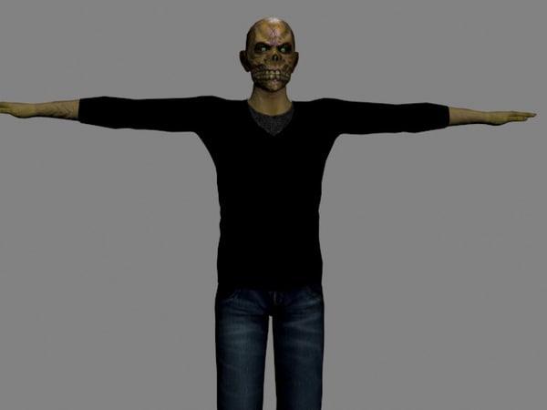free fbx model zombie demon