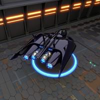 spaceship 3d blend