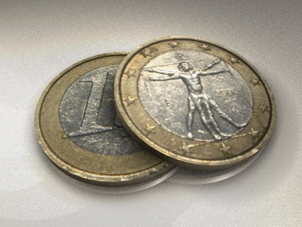 3d model currency euro