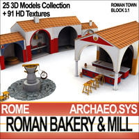 ancient rome bakery roman 3ds