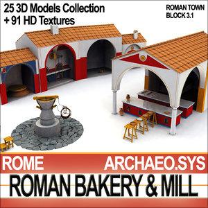 ancient rome bakery roman 3ds