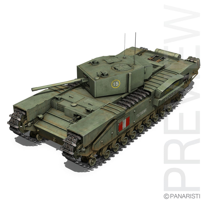 c4d british tank ii churchill