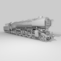 locomotive steam engine 3ds