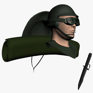 dummy soldier 3d model