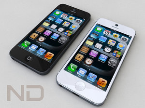 phone 5 actual size 3d dwg