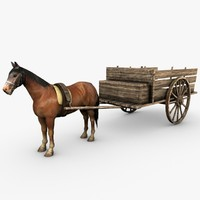 Wooden horse drawn cart