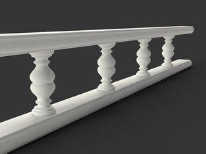 balustrade classic furniture baluster 3d model