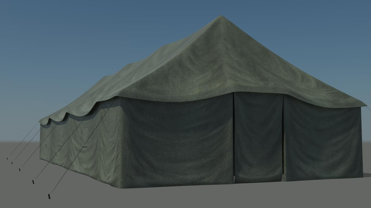 army tent 3d max