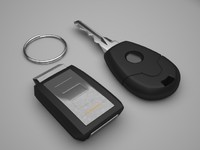 car key alarm 3d model