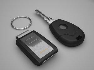 car key alarm 3d model