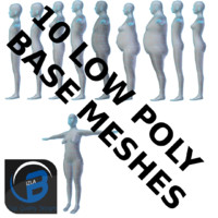10 Low Poly Base Meshes
