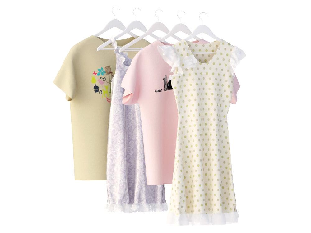 dressing clothes 3d fbx