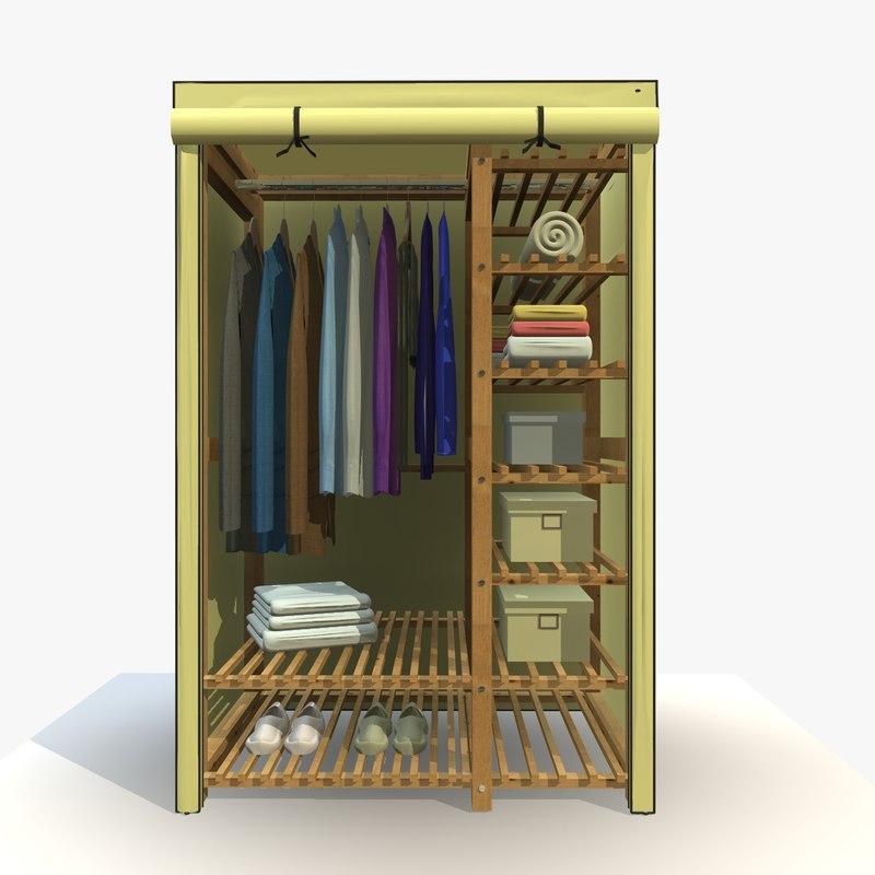 3d wardrobe clothes wardobe 2