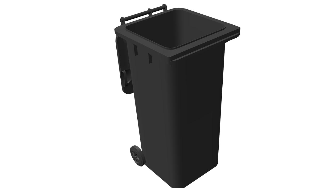 3d obj garbage bin