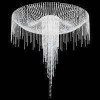 Ceiling mount crystal swarowski round chandelier
