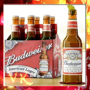 budweiser beer bottle - max