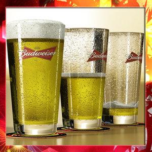 budweiser beer 3d 3ds