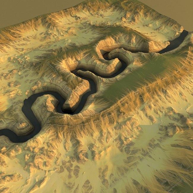 canyon maps terrain 3d model