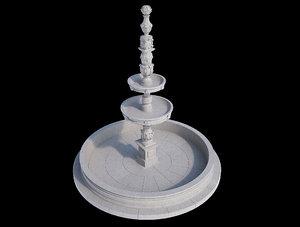 3d barroque fountain model