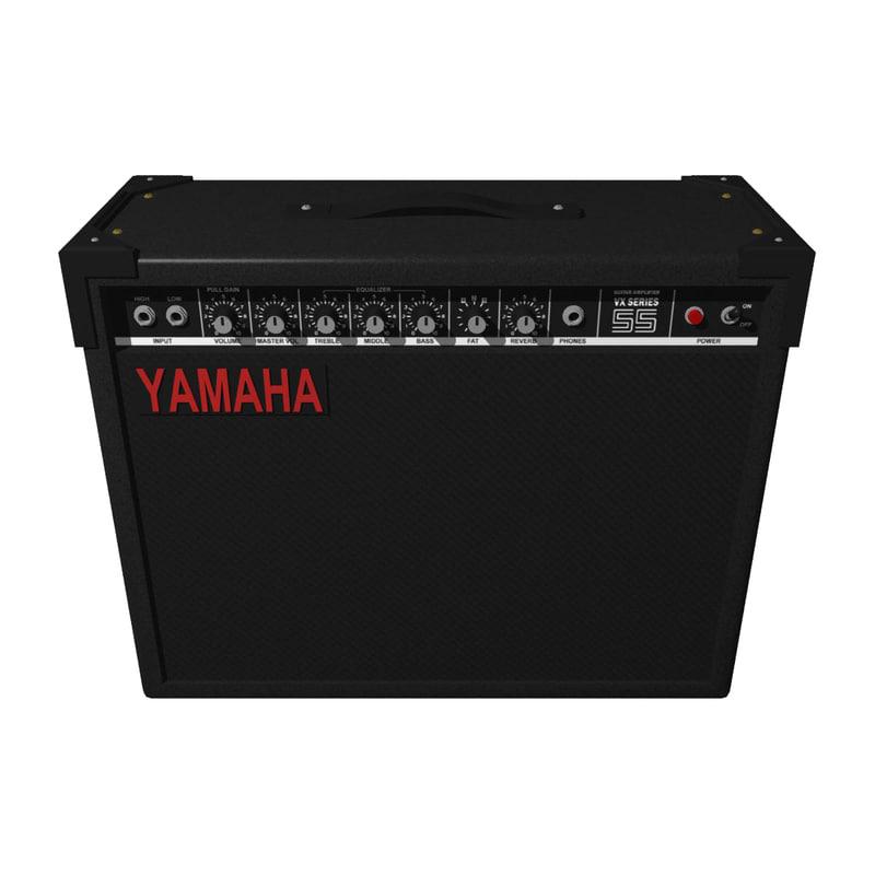 3d model guitar amp amplifier