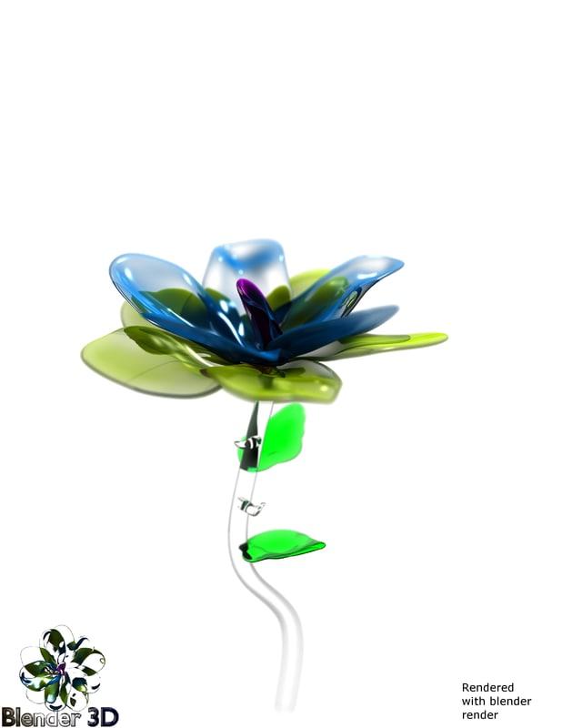 flower blender 3d obj