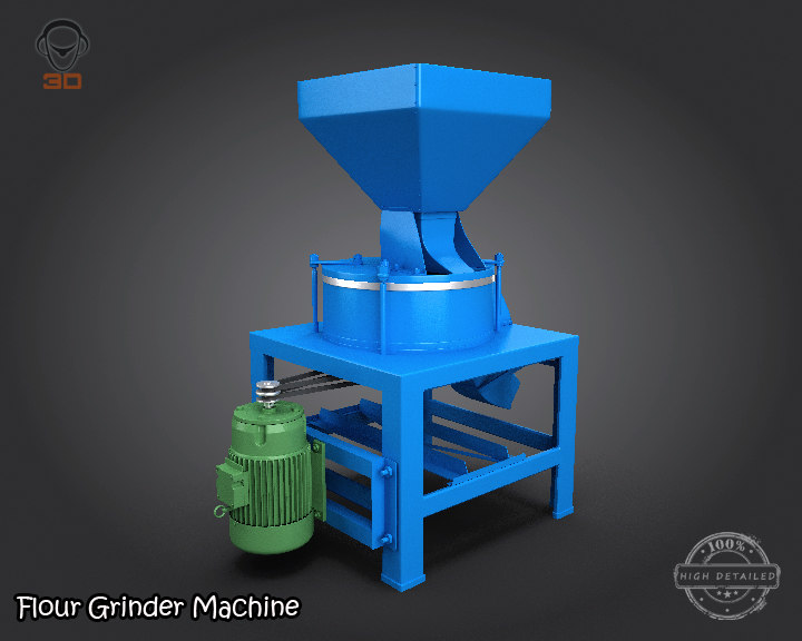 3d flour grinder machine