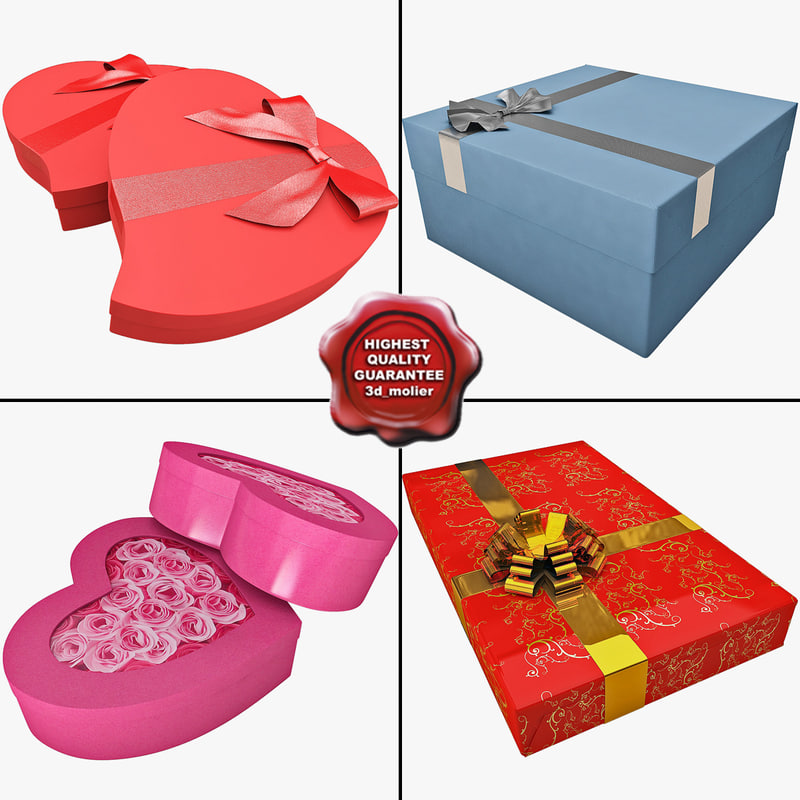 3d gift boxes 2