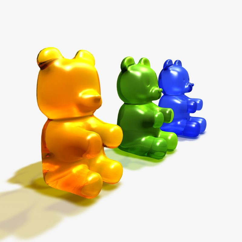 c4d gummy bears
