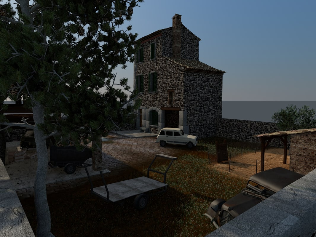 old french house 3d model