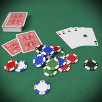 3ds max poker card chips